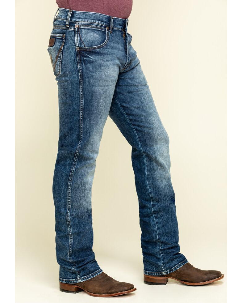 Wrangler Retro Men's Paris Stretch Slim Boot Jeans - Long , Blue, hi-res