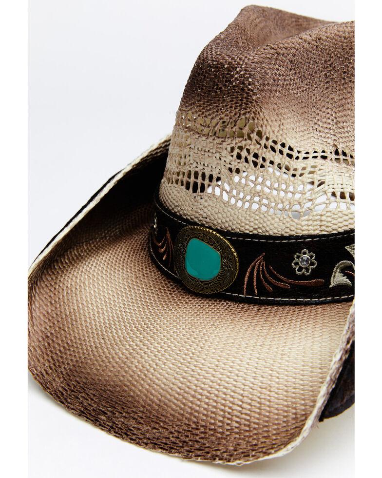 Shyanne Women's Tan O Cooper Toyo Straw Western Hat , Tan, hi-res
