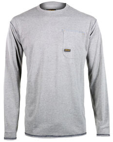 Ariat Men's Rebar Crew Long Sleeve Work Shirt, Hthr Grey, hi-res