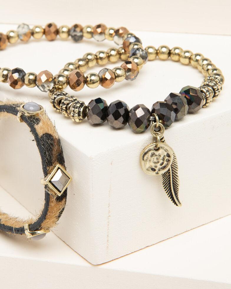 Shyanne Women's Leopard Stretch Bracelet, Leopard, hi-res