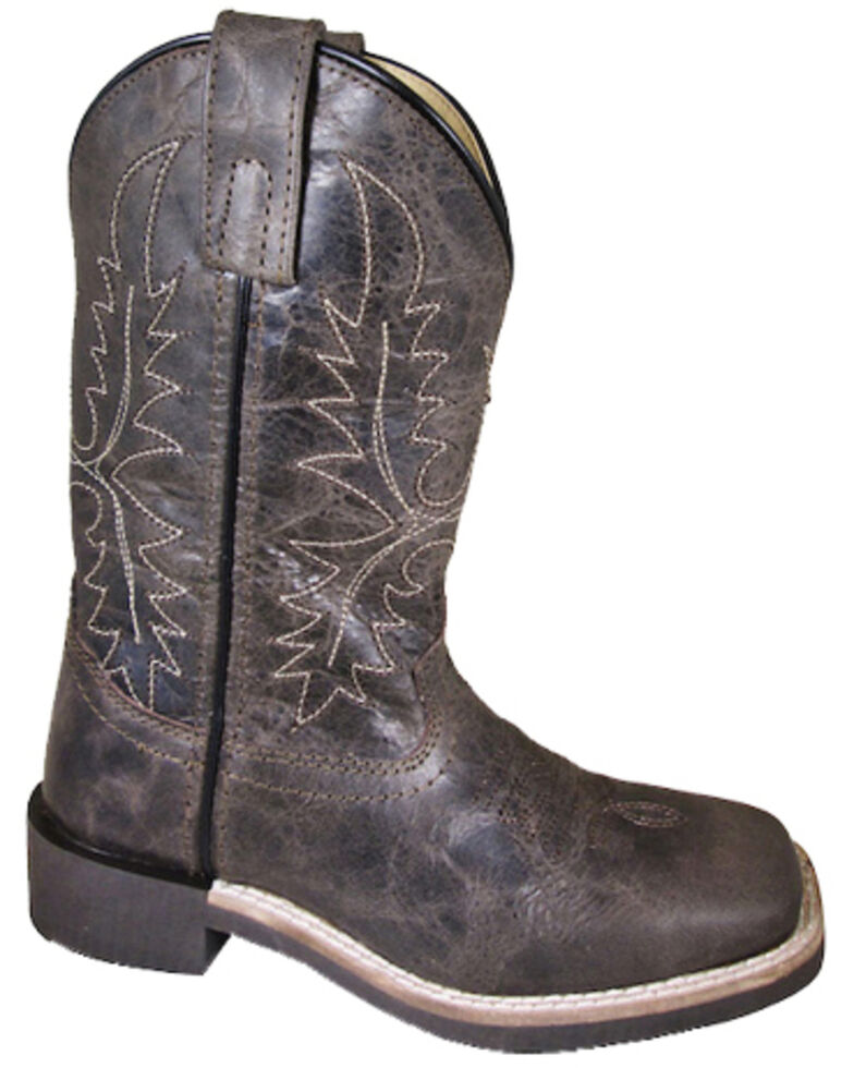 Smoky Mountain Youth Boys' Bowie Western Boots - Square Toe, Dark Brown, hi-res