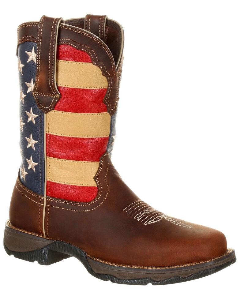 4f4f4104c5a Durango Women s Lady Rebel Patriotic Flag Work Boots - Steel Toe ...