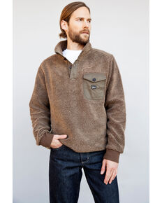 Kimes Ranch Men's Brown Whiskey Pullover Sweater , Brown, hi-res