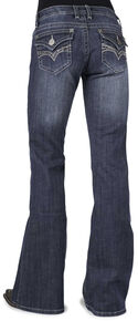 Stetson Women's 816 Classic Fit Flap V-Pocket Boot Cut Jeans, Denim, hi-res