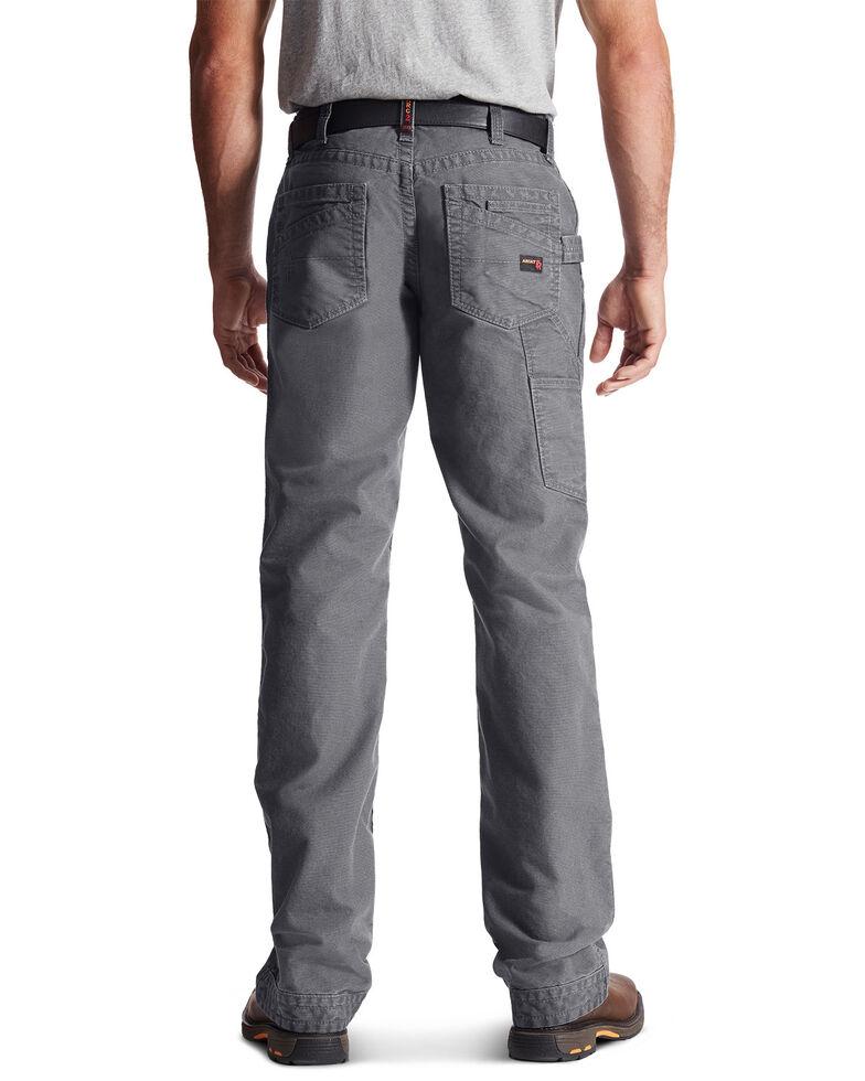 Ariat Men's FR M4 Low Rise Workhorse Carpenter Work Pants , Grey, hi-res