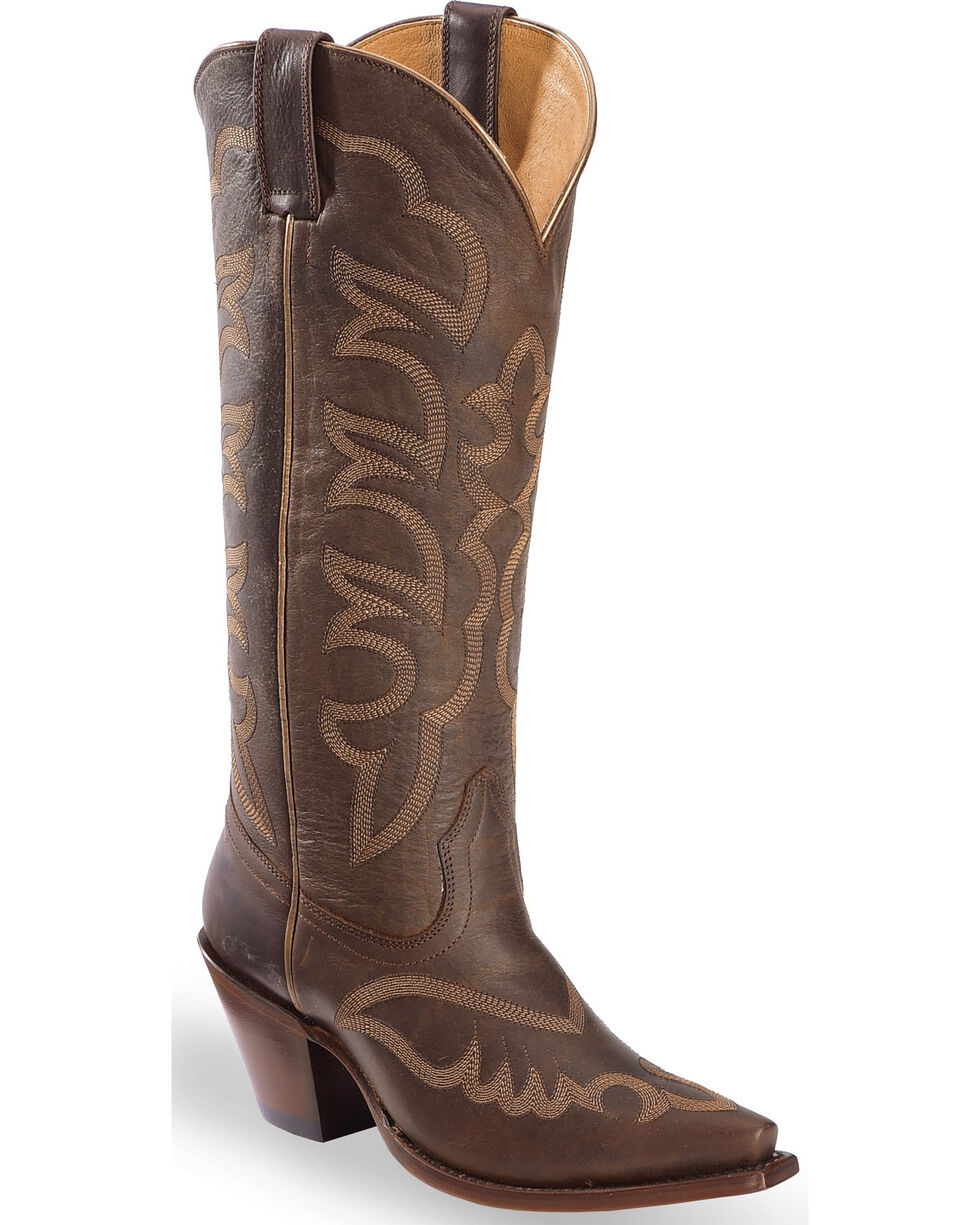 "Shyanne Women's Anna 14"" Western Boots - Snip Toe, Brown, hi-res"