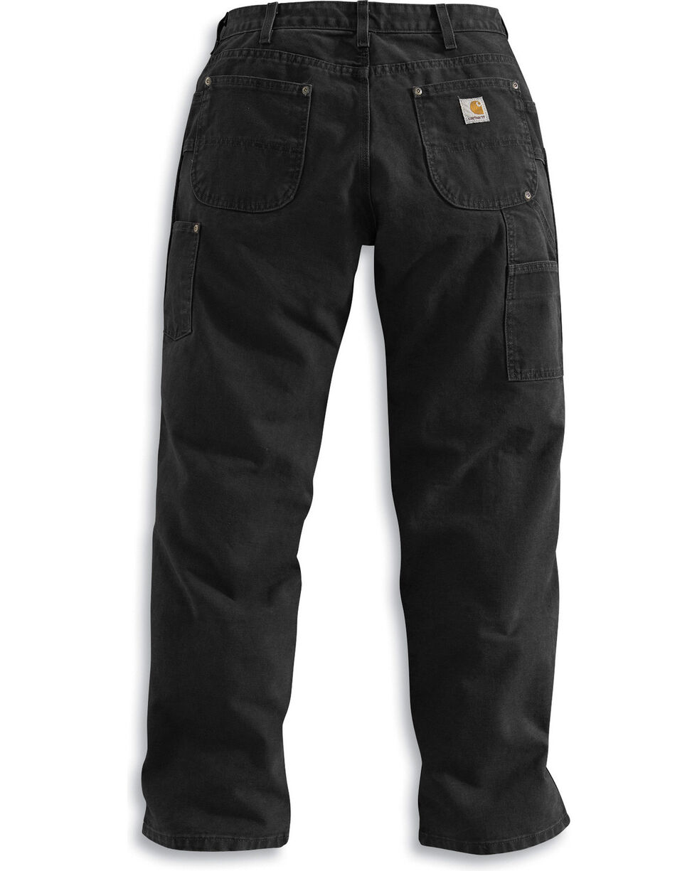 Carhartt Double Front Work Dungaree Pants, Black, hi-res