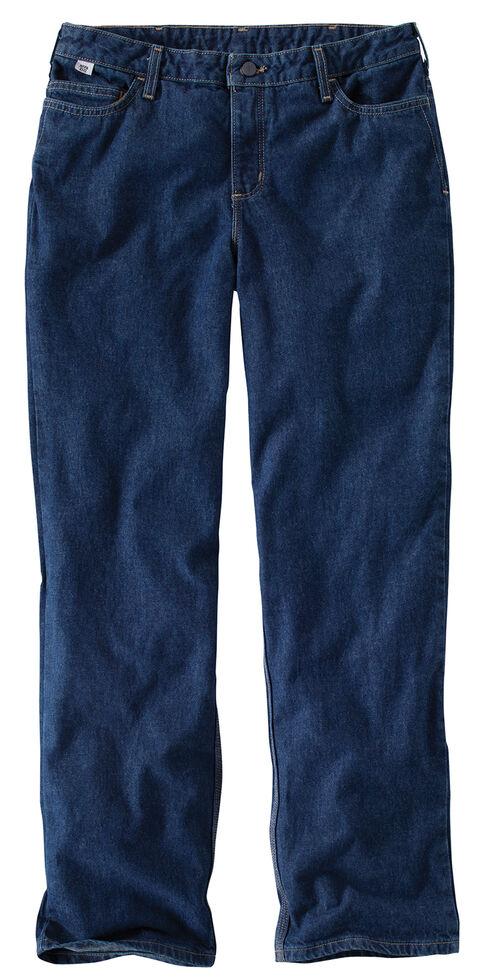 Carhartt Women's Flame-Resistant Work Jeans, Denim, hi-res