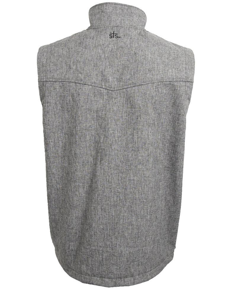 STS Ranchwear Men's 4X Light Leather Barrier Vest - Big , Heather Grey, hi-res