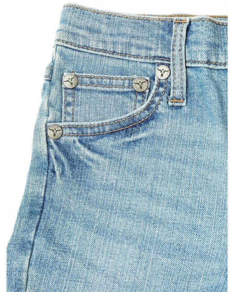 Wrangler Boys' 42 Vintage Wash Taft Light Boot Jeans , Blue, hi-res