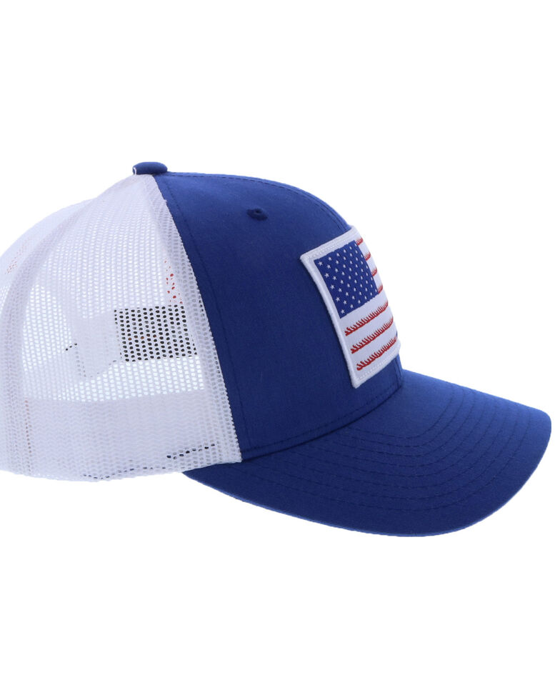 HOOey Men's Liberty Roper Flag Patch Cap , Blue, hi-res