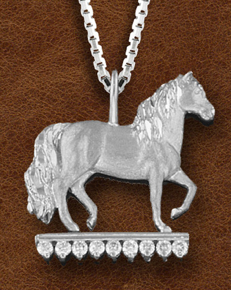 Kelly Herd Women's Sterling Silver Paso Fino CZ Necklace, Silver, hi-res