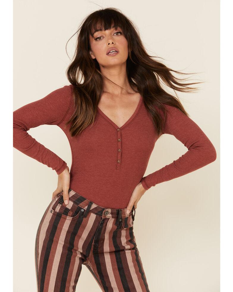 Rock & Roll Denim Women's Striped Flare Jeans, Multi, hi-res