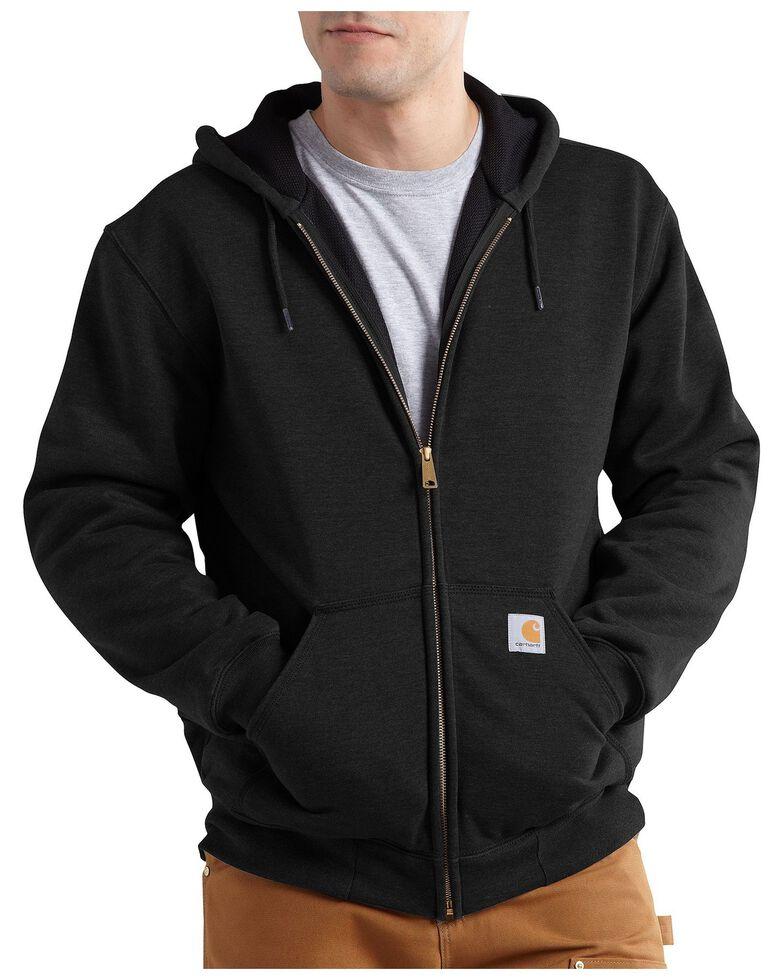 Carhartt Men's Thermal Lined Hooded Zip Jacket - Big & Tall, Black, hi-res