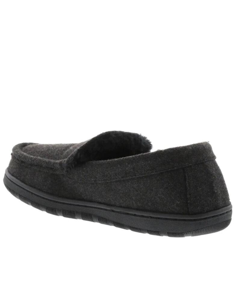 Lamo Footwear Men's Harrison Wool Slippers - Moc Toe, Charcoal, hi-res
