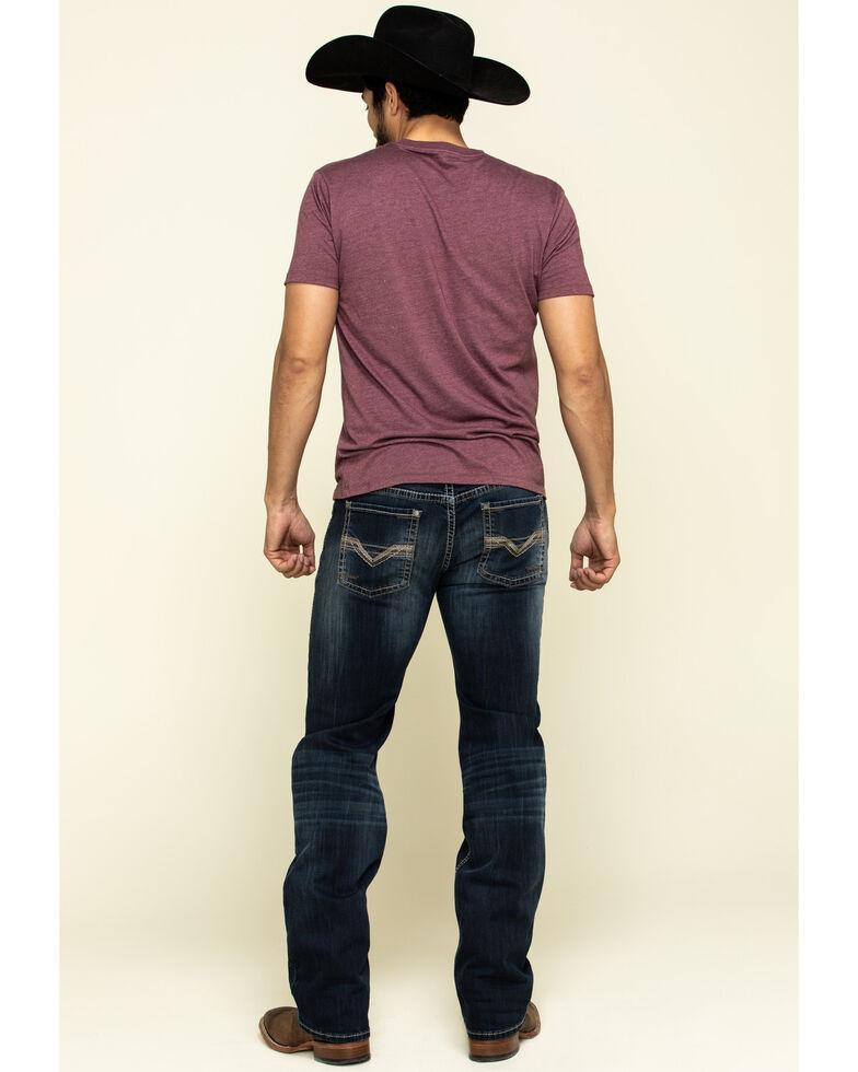 Rock & Roll Cowboy Men's Pistol Dark Reflex Stretch Straight Jeans , Blue, hi-res