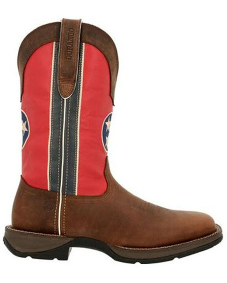 Durango Men's Tennessee Flag Western Boots - Square Toe, Brown, hi-res