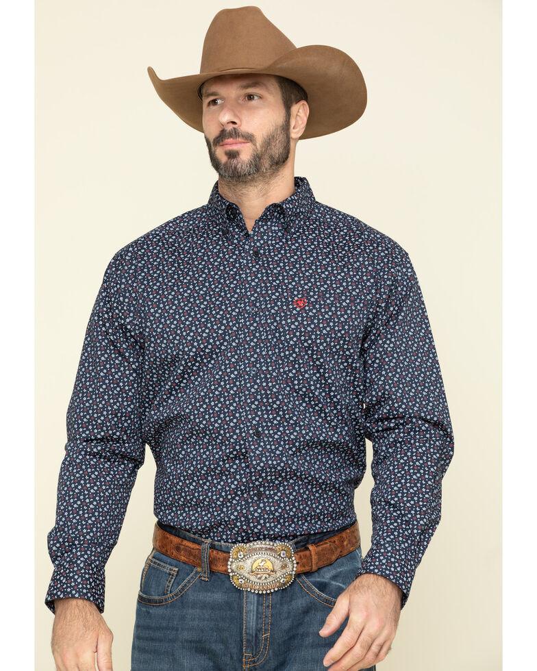 Ariat Men's Sunnyvale Floral Print Long Sleeve Western Shirt , Black, hi-res
