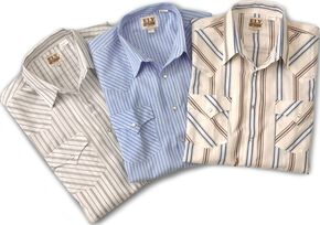 Ely Assorted Plaid & Stripe Long Sleeve Western Shirts - Big & Tall, Stripe, hi-res