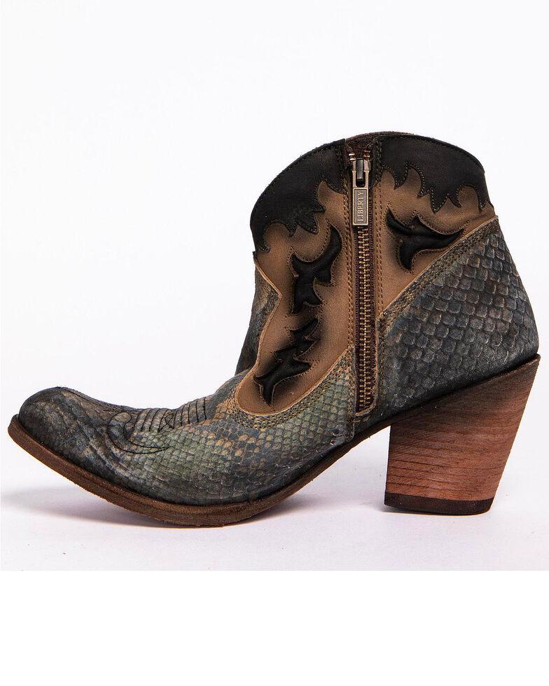Liberty Black Women's Python Fileteado Verde Western Booties - Medium Toe, Taupe, hi-res