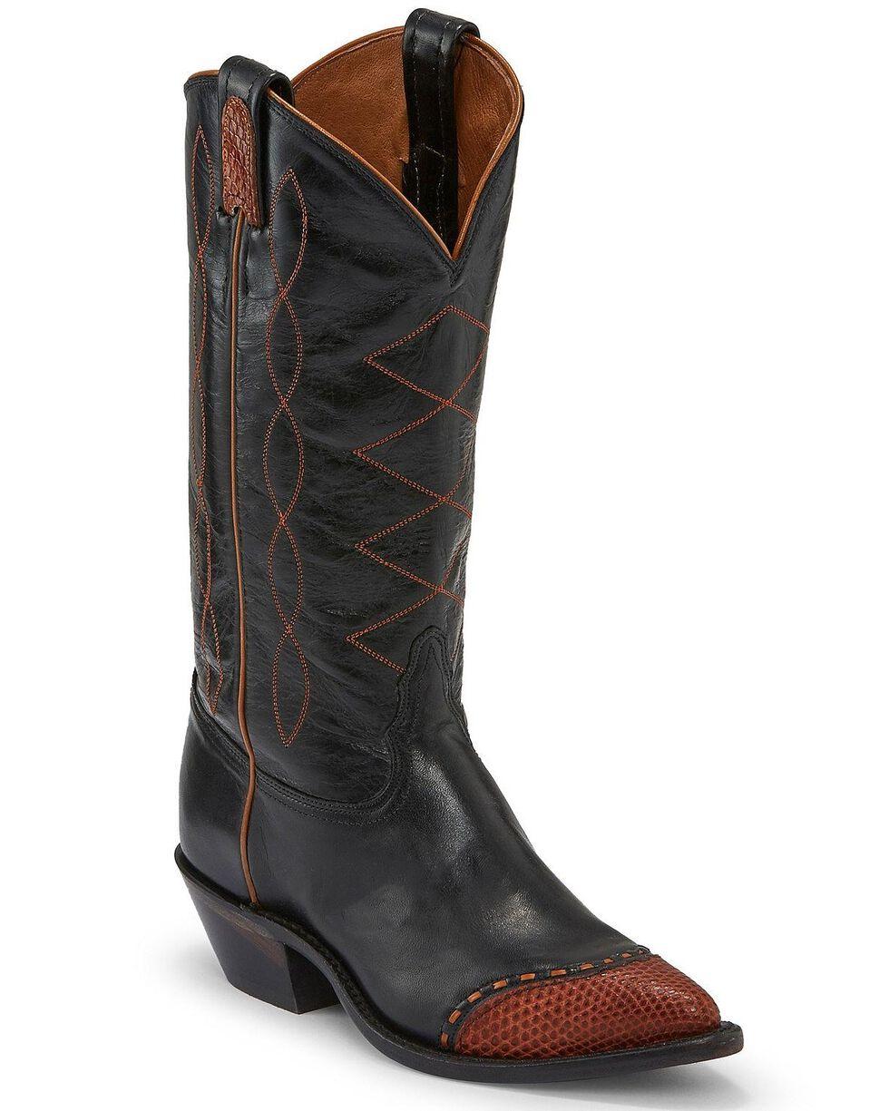 Tony Lama Women's Emilia Western Boots - Pointed Toe, Black, hi-res