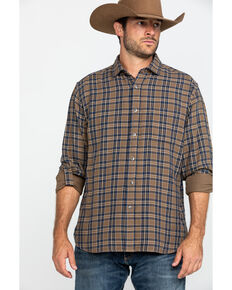 Pendleton Men's Tan Fairbanks Plaid Button Long Sleeve Western Shirt , Tan, hi-res