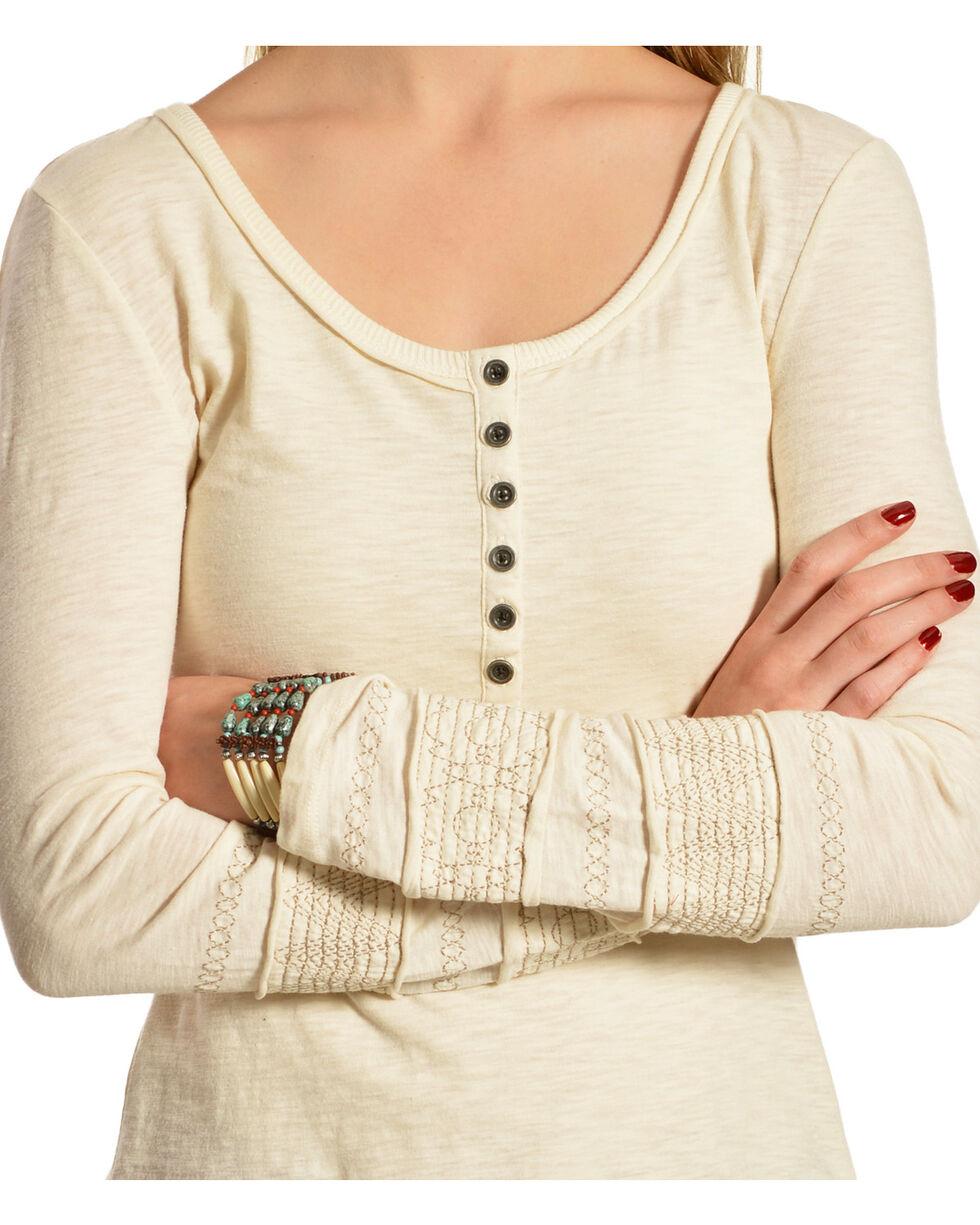 Black Swan Women's Midori Texture Henley Top , Ivory, hi-res