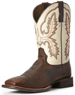 Ariat Men's Circuit Dayworker Western Boots - Wide Square Toe, Brown, hi-res