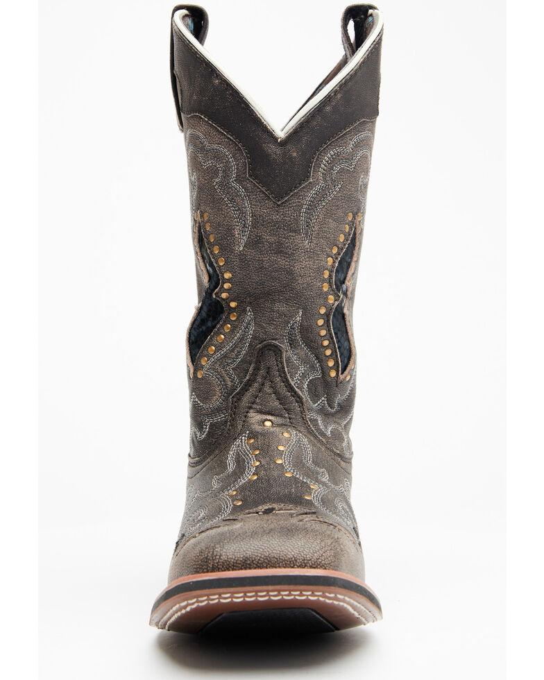 Laredo Women's Spellbound Cowgirl Boots - Square Toe, Brown, hi-res