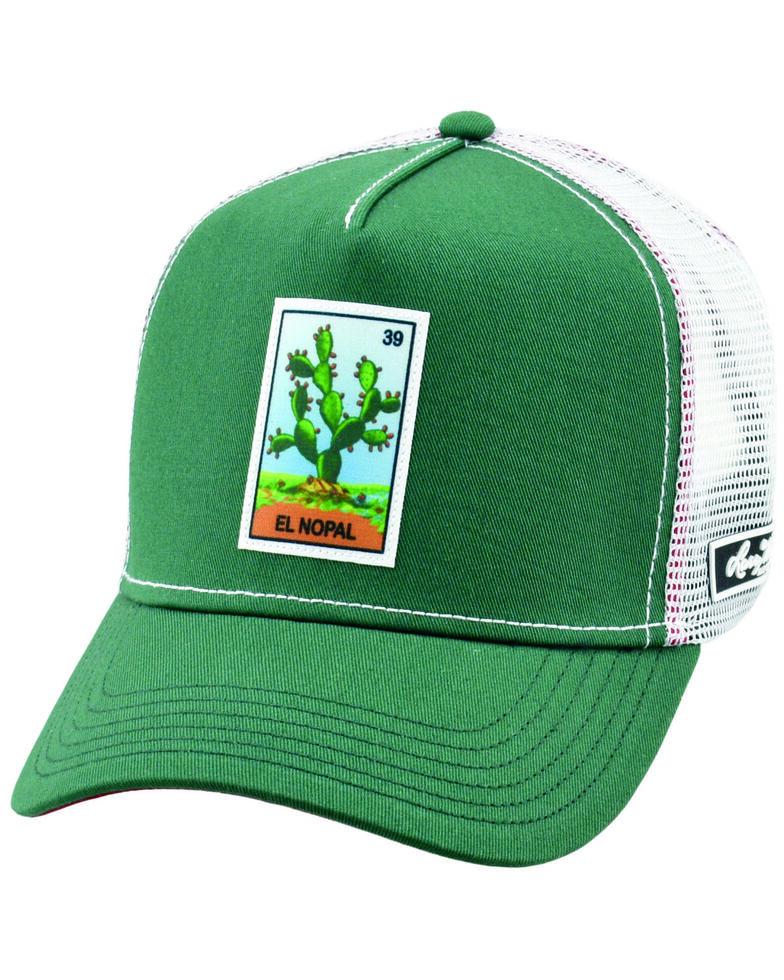 Larry Mahan Men's El Nopal Patch Soft Mesh Ball Cap , Green, hi-res