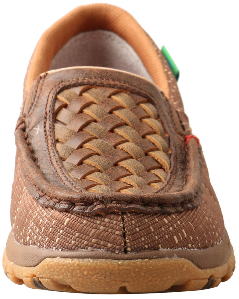 Twisted X Women's Woven CellStretch Driving Shoes - Moc Toe, Brown, hi-res