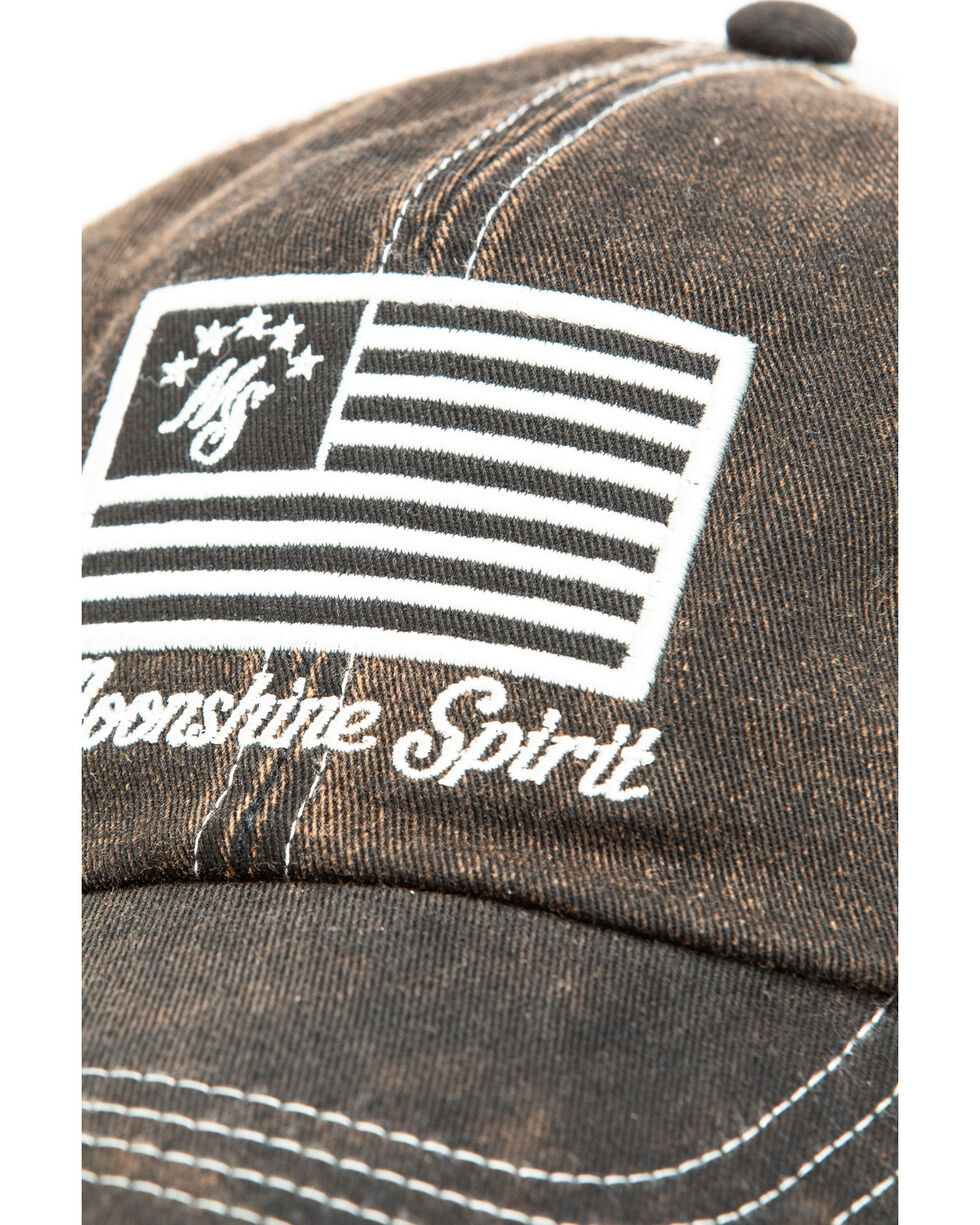 Moonshine Spirit Men's Grey Flag Patch Trucker Cap , Black, hi-res