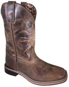 Smoky Mountain Women's Sunburst Western Boots - Square Toe, Brown, hi-res