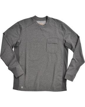 American Worker® Men's Execute Performance Crew Shirt , Heather Grey, hi-res