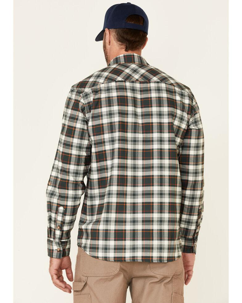 Wrangler Riggs Men's Green & White Plaid Long Sleeve Button-Down Work Shirt - Big , Green, hi-res