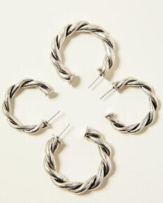 Idyllwind Women's Wanna Roam Hoop Earrings, Silver, hi-res