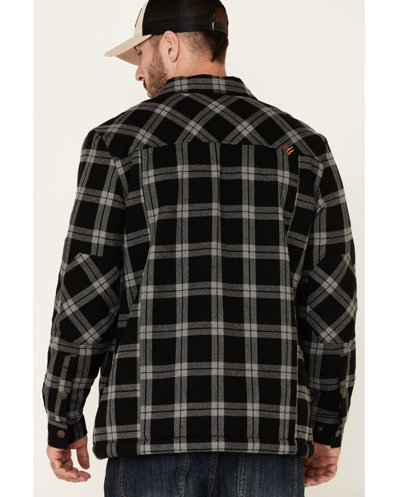 Hawx Men's Charcoal Piedra Sherpa Lined Flannel Work Shirt Jacket , Charcoal, hi-res