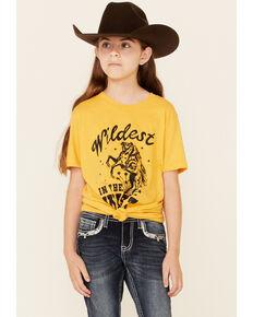 Ali Dee Girls' Yellow Wild West Short Sleeve Graphic Tee , Yellow, hi-res
