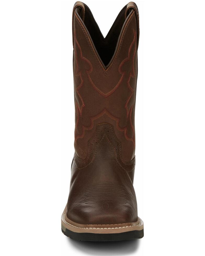 Justin Men's Carbide Western Work Boots - Soft Toe, Brown, hi-res