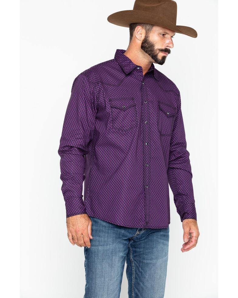 4368ee52b4 Wrangler 20X Men s Diamond Print Advanced Comfort Long Sleeve Western Shirt