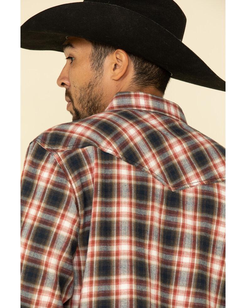 Cody James Men's Spruce Plaid Long Sleeve Western Flannel Shirt , Black/red, hi-res