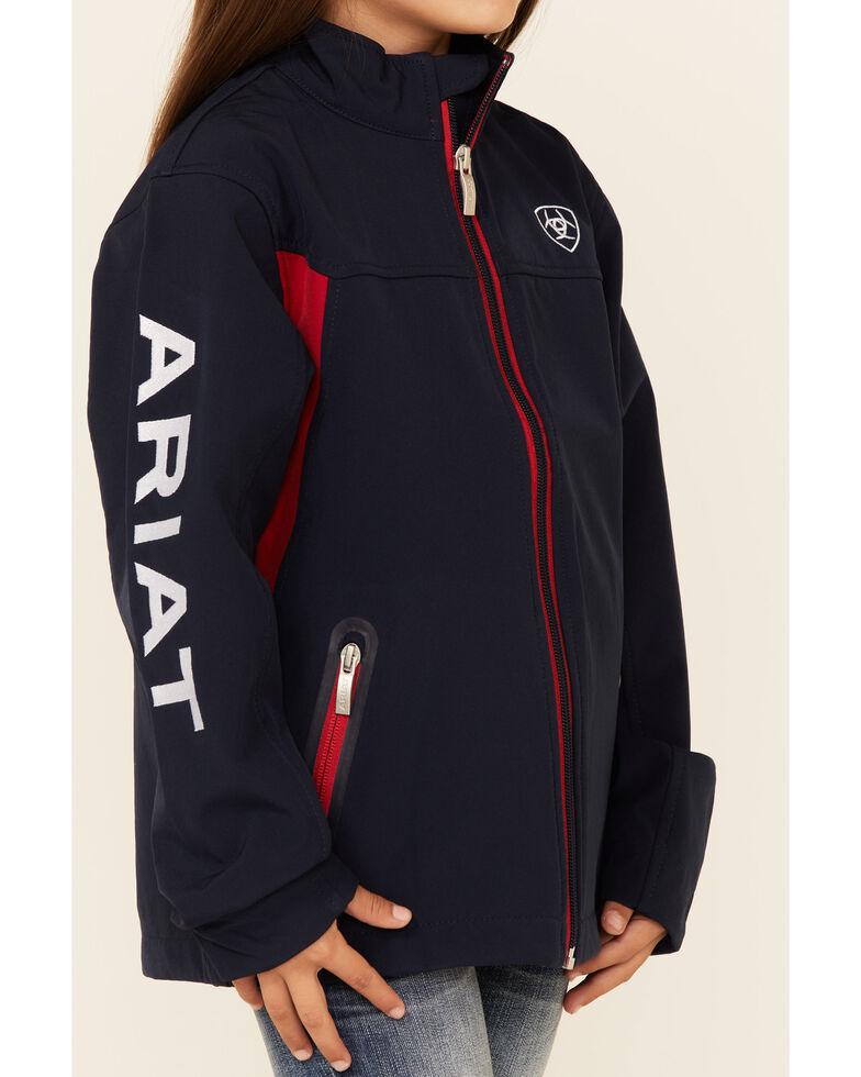 Ariat Girls' Navy New Team Softshell , Navy, hi-res