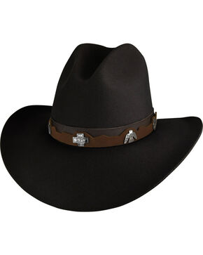 Bailey Men's Black Hobson 2X Western Hat , Black, hi-res