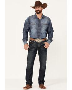 Ariat Men's M4 Cobalt Dark Wash Stretch Relaxed Straight Jeans , Blue, hi-res