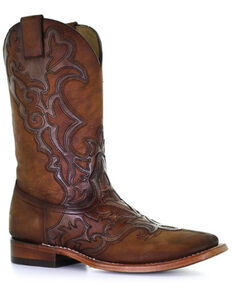 Corral Men's Shedron Western Boots - Wide Square Toe, Brown, hi-res