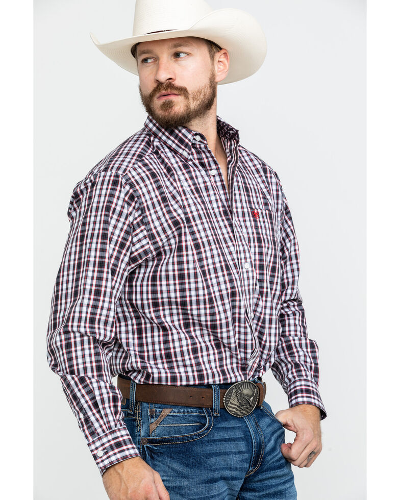Ariat Men's Wrinkle Free Clarkston Plaid Long Sleeve Western Shirt , Multi, hi-res
