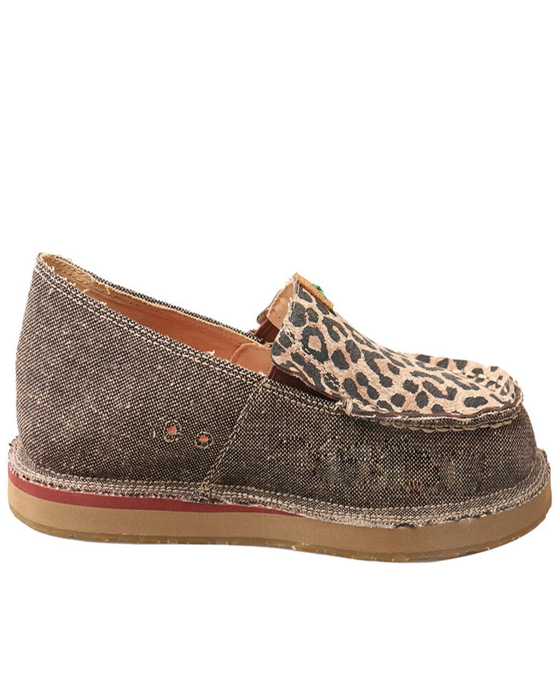 Twisted X Women's ECO TWX Leopard Slip-On Shoes, Sand, hi-res