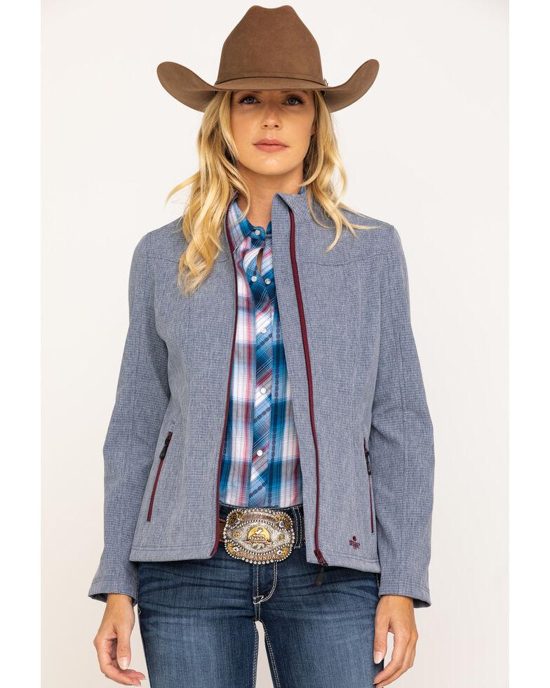 Shyanne Life Women's Blue Pinstripe Softshell Jacket , Brown, hi-res