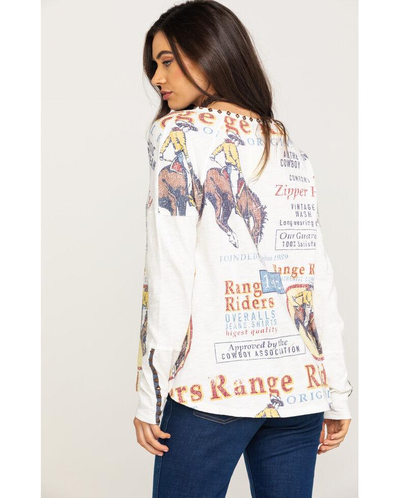 Double D Ranch Women's Range Rider Long Sleeve Top, White, hi-res