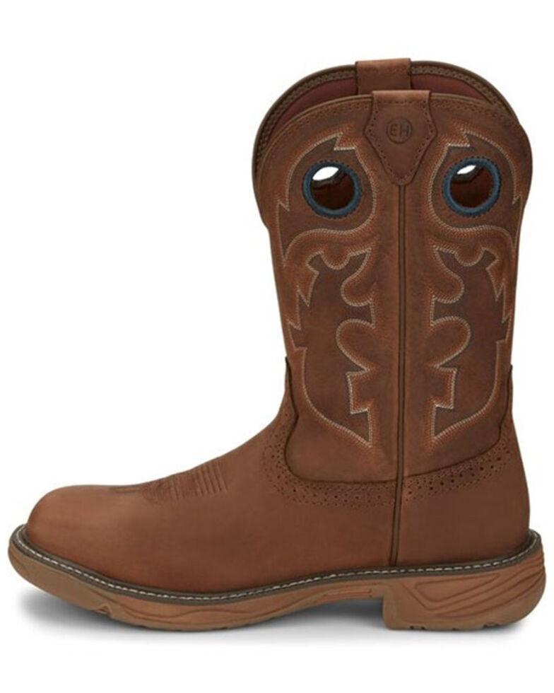 Justin Men's Rush Barley Western Work Boots - Soft Toe, Brown, hi-res
